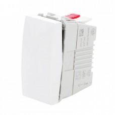 electrice ialomita - intrerupator simplu schneider unica, incastrat, modular, alb - schneider - mgu3.101.18