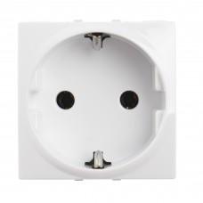 electrice ialomita - priza schuko schneider unica, incastrata, modulara, 2m, alba - schneider - mgu3.036.18
