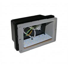 electrice ialomita - spot led incastrat, dreptunghiular, 1 w, 16 leduri, lumina rece, 162x100 mm, alb, ip 54 - lumen - 00-948/rece