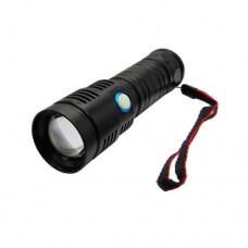 Lanterna metalica LED CREE 10W zoom cu cablu de incarcare micro USB FL-T002TED